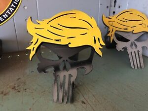 Trump Punisher Skull Tow Hitch Cover