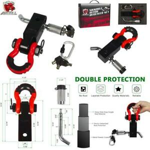 Ambull Shackle Hitch Receiver 2 Inch With 3 4 Inch D ring Shackle Locking Pin