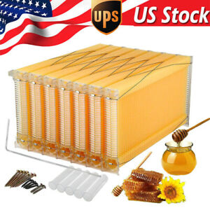 Auto Run Honey Beehive Frames Beekeeping Kit Bee Hive Auto Harvest Honey Tool