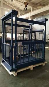 Cattle Livestock Scale Cage 80 x20 With Led Indicator 3 000 Lb 5 Year Warranty
