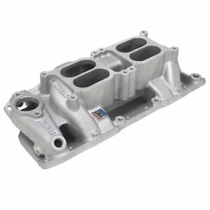 Edelbrock 7525 Small Block Chevy Performer Rpm Air Gap Dual Quad Intake