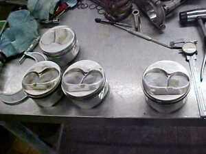 Je Sbc Piston 350 355 4 030 Bore 1 250 Ch 3 500 Stroke 6 00 Rods Dome 030 4ea