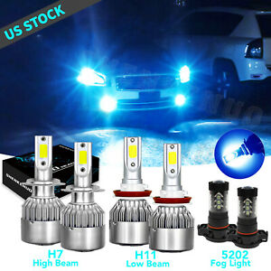 For 2007 2012 Gmc Acadia 8000k Combo H7 H11 Led Headlight Fog Light 6 Bulbs