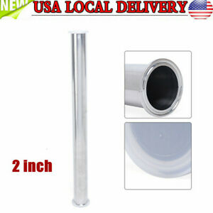 2 Tri Clamp 51mm Pipe Sanitary Spool Tube Length 610mm Stainless Dairy Beer Top