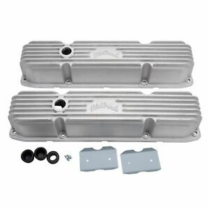 Edelbrock 41929 Classic Cast Aluminum Valve Covers Mopar Big Block