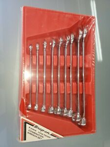 New Snap On Oex709 9pc Long Handle Combination Wrench Set 3 8 7 8