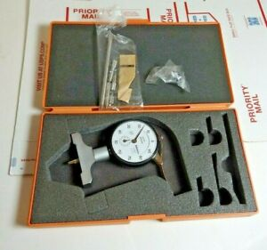 Mitutoyo 7211 Dial Depth Gauge 0 200 0 01mm Mint Free Priority Shipping