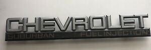 1992 1999 Chevrolet Suburban Fuel Injection Rear Tail Gate Emblem Logo Badge Oem