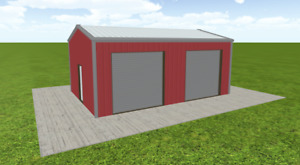 Steel Building 20x30 Simpson Metal Building Kit Garage Workshop Prefab Structure
