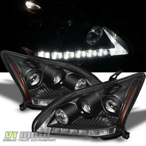 For Blk 2004 2006 Lexus Rx330 Led Drl Projector Headlights Lamps hid Version