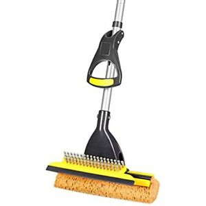 Sponge Mop Home Commercial Use Tile Floor Bathroom Garage Cleaning With Squeegee