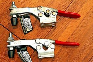 2 New Toggle Clamp 225d Horizontal Clamp Quick Release Hand Tool 500lbs