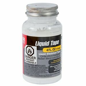 Liquid Electrical Tape Waterproof Seal Insulates Protects 4 Oz