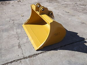 New 36 Caterpillar 303cr Excavator Grading Bucket With Pins