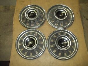 1967 67 Chevrolet Impala Hubcap Rim Wheel Cover Hub Cap 14 Oem Used 3009 Set 4