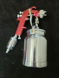 Astro Pneumatic Tool 4008 Spray Gun With Cup Filter Red Handle 1 8mm Nozzle
