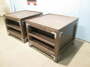 Lot Of 2 Custom Commercial Expresso Wooden Sundry bakery produce Display Island