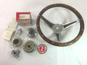 Nos Superior the 500 13 1 2 Vintage Wood Steering Wheel Horn Adapter Kit