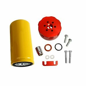 For 2001 2016 Chevy Gm Duramax 6 6l Diesel Cat Fuel Filter Adapter Kit Red