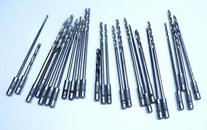25 Pc Assorted Boeing Quick Chuck Drill Bit Lot Aircraft Tools