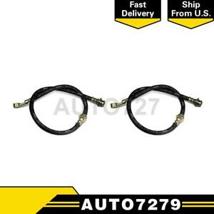 Centric Parts Rear 2pcs Brake Hydraulic Hose For Fiat 124 Spider