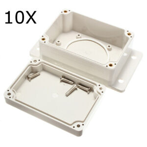 10pcs 3 15 16x2 11 16x1 31 32in White Plastic Enclosure Waterproof Electronic