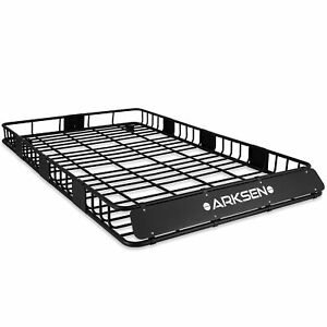84 X 50 X 6 Black Roof Rack Heavy Duty Top Luggage Cargo Carrier