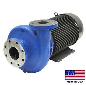 Straight Centrifugal Pump 46 200 Gph 25 Hp 208 230 460v 4 In 3 Out