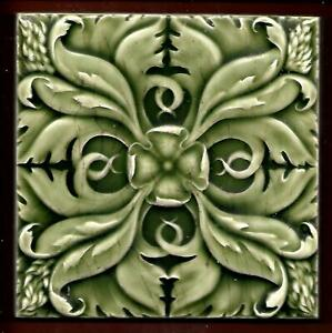 Antique Victorian Moulded Tile C1890