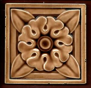 Antique Victorian Moulded Tile By Maws C1890