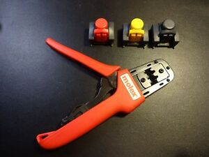 638191100 Molex Tool Hand Crimper 14 20 Awg Side Comes With 3 Assemblies