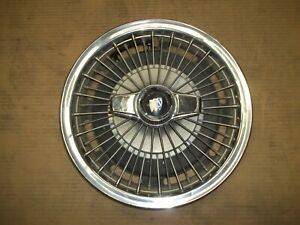 1965 65 66 67 Buick Special Hubcap Rim Wheel Cover Hub Cap 14 Wire 1010 Spinner