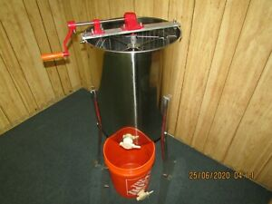 Four Frame Stainless Steel Honey Extractor And Accessories