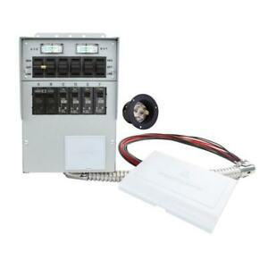 Manual Transfer Switch W Cover For Portable Generator Inverter 30 Amp 6 Circuit