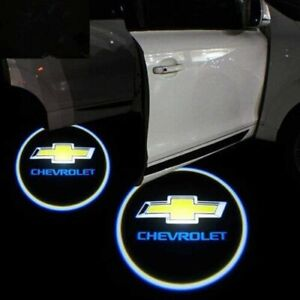 2x Chevrolet Led Logo Light Ghost Shadow Projector Car Door Laser For Chevrolet