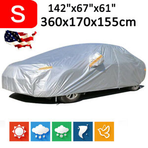 Small 190t Full Car Cover Waterproof Outdoor All Weather Dust Scratch Protection