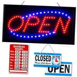 Ultima Led Neon Open Sign For Business Lighted Sign Open With Flashing Mode I
