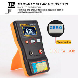 Mesr100 V2 Ranging In Circuit Esr Capacitor Tester Meter 0 001 100r Accessories