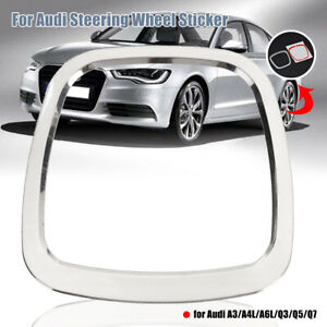 Steering Wheel Decorative Sticker Emblem Frame Cover Fit For Audi A3 A4l A6l