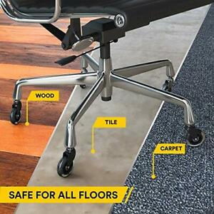 Opttico Office Chair Casters Wheels Replacement Computer Chair Mat For