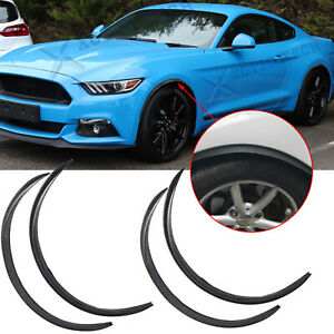 For Ford Mustang Focus Carbon Fiber Style Wheel Eyebrow Cover Trim Arch Fender