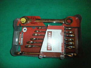 New Craftsman 8 Piece Metric Dual Ratcheting Wrench Set 14756 8 19 Mm