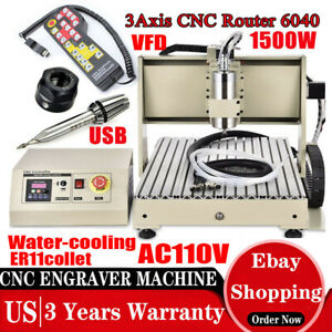 3 Axis Cnc6040 Engraving Drilling Milling Machine Cutter Engraver Usb Router rc