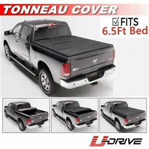Solid Tri fold Tonneau Cover For 2009 2018 Dodge Ram 1500 6 5ft 78in Bed Cover