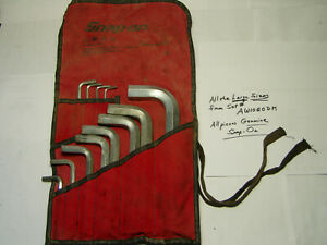 Big Sizes Snap On Aw1020dk Sae Hex Key Wrench Set With Kit Bag 7 64 To 3 4