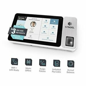 Citadel Cloud based Touchscreen Time Clock With Biometric Finger Scan Rfid