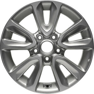 74661 New Compatible Aluminum 16in Wheel Painted Silver Fits 2012 2013 Kia Soul