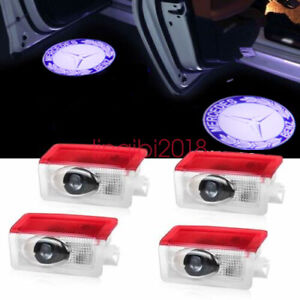 For Mercedes Benz 4pcs Logo Led Door Courtesy Light Ghost Shadow Laser Projector