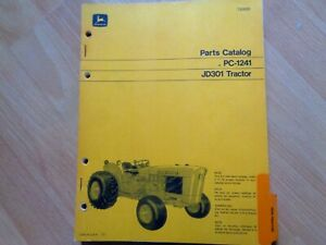 John Deere Jd301 Tractor Factory Original Parts Catalog Pc1241 Oem