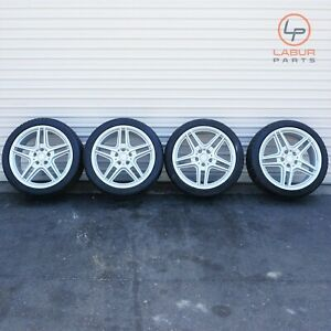 w315 W204 Mercedes 08 14 C Class Amg 18 Staggered 5 Spoke Wheel Rims tires Set